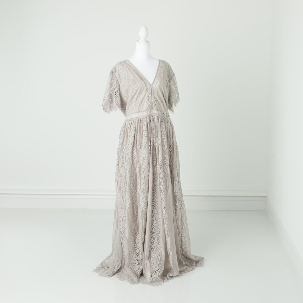 gray lace dress for moms
